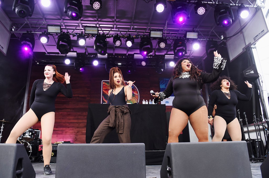Lizzo performs onstage during Pandora at SXSW 2017 on March 16, 2017 in Austin, Texas.