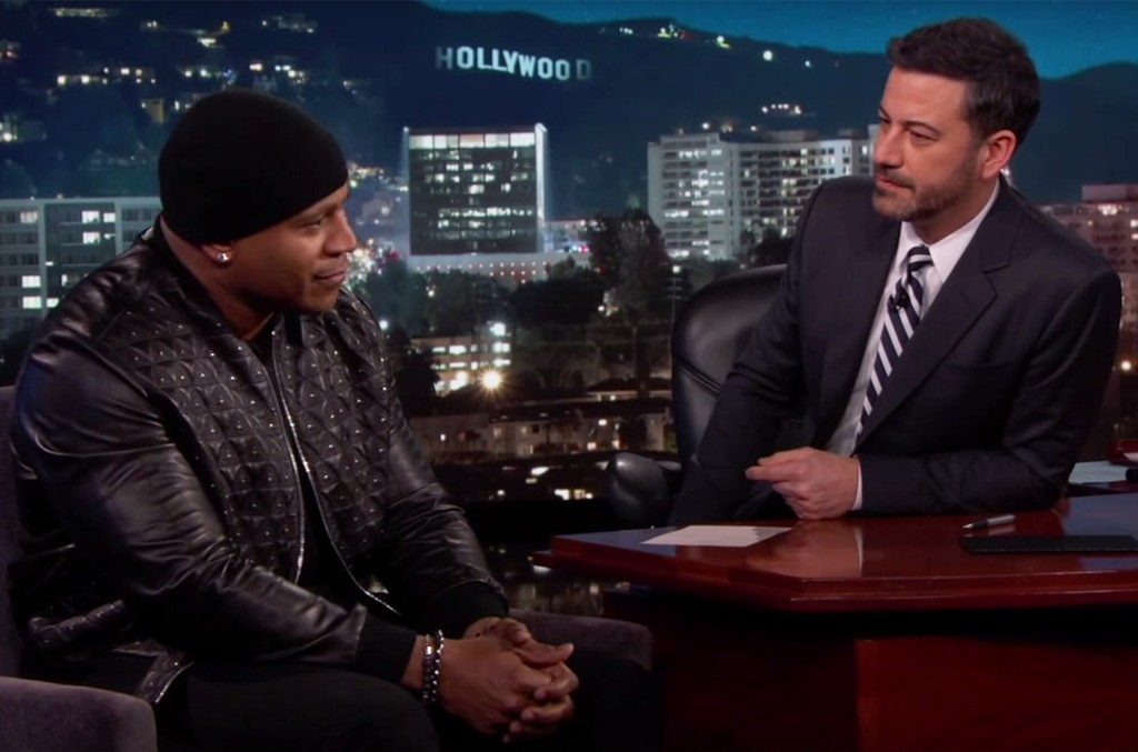 LL Cool J and Jimmy Kimmel on Jimmy Kimmel Live on Jan. 12, 2017.