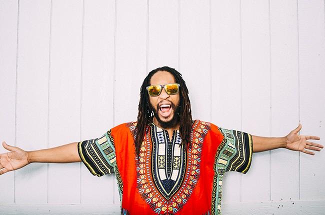 Lil Jon backstage at iHeartRadio 2014