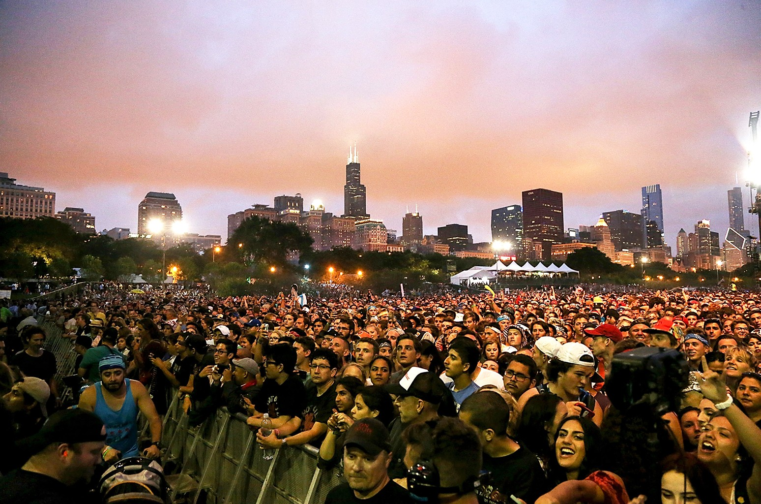 A general view of the atmosphere during Lollapalooza at Grant Park on July 30, 2016 in Chicago.