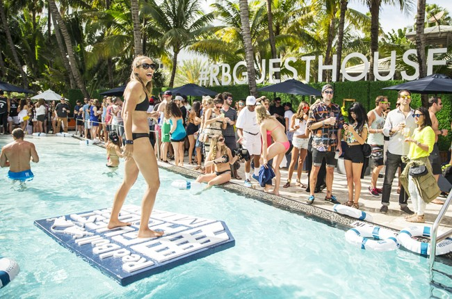 Lolo Jones dances at Red Bull Guest House in Miami