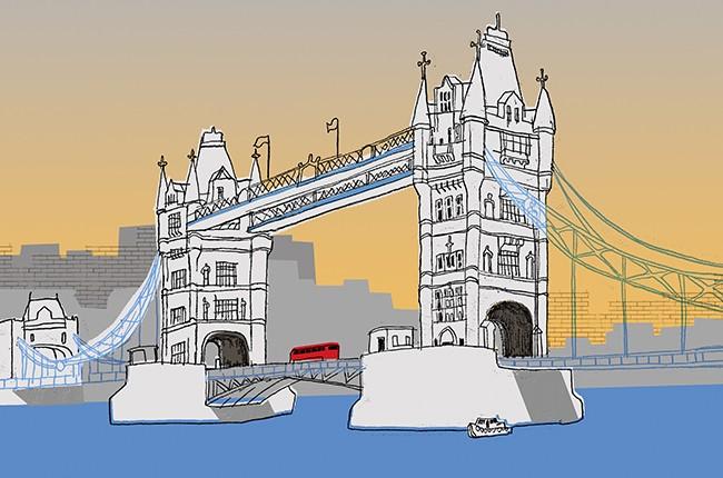 london bridge england britain illo