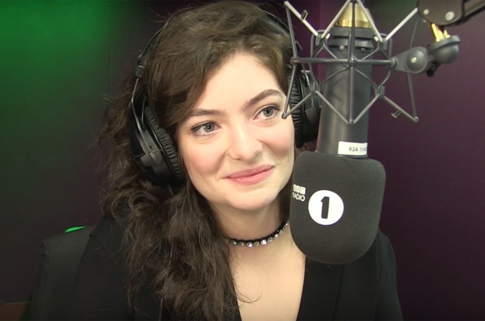 Lorde on BBC Radio 1.