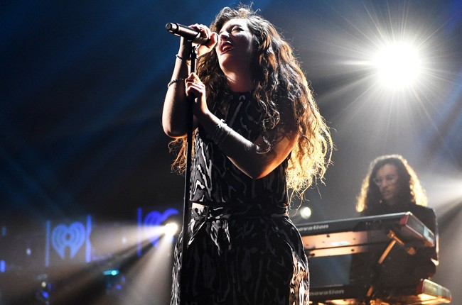 Lorde at iHeartRadio 2014