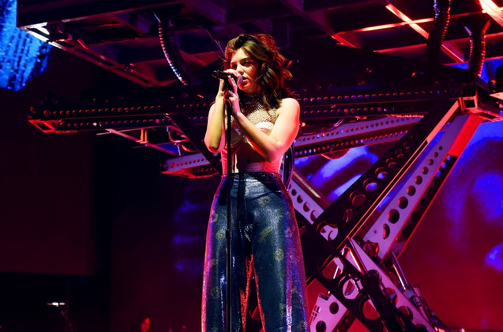 Lorde performs on the Coachella Stage during day 3 of the Coachella Valley Music And Arts Festival (Weekend 1) at the Empire Polo Club on April 16, 2017 in Indio, Calif.