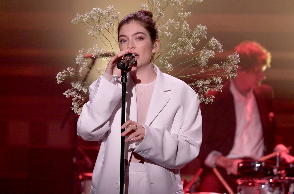 Lorde performs on 'The Tonight Show Starring Jimmy Fallon' on June 15, 2017.