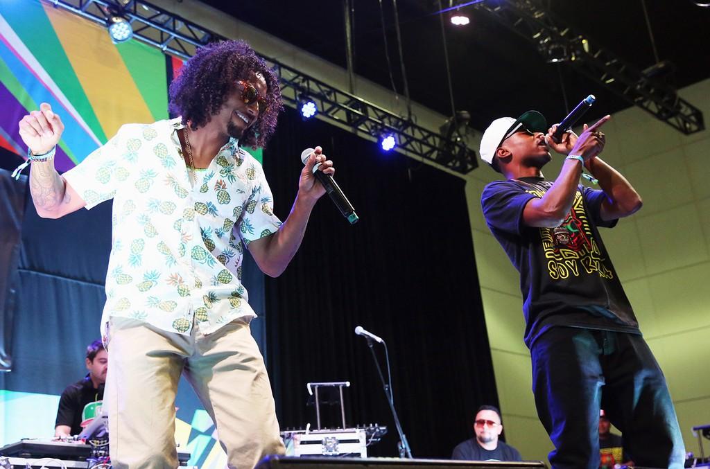 Los Rakas perform during the 2015 BET Experience
