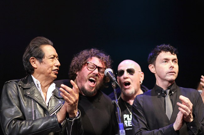 Alejandro Escovedo, Bobby Bare Jr., Cheetah Chrome and Richard Barone perform at the Official SXSW Tribute to Lou Reed.