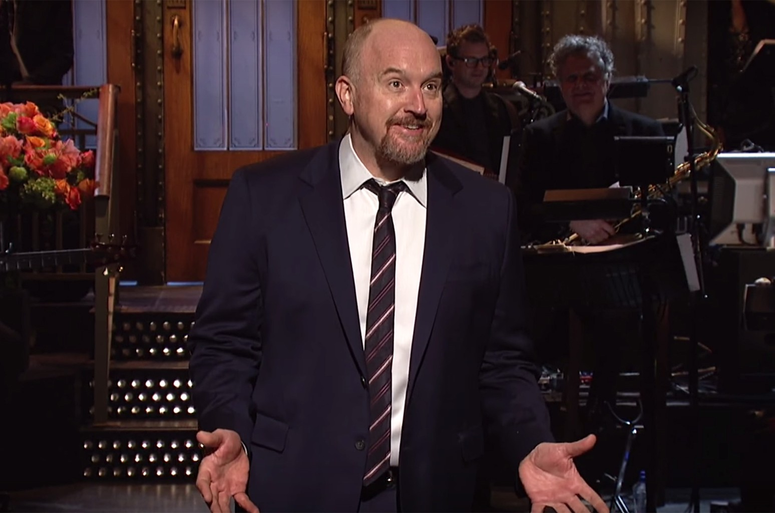 Louis CK during the opening monologue on Saturday Night Live on April 8, 2017.