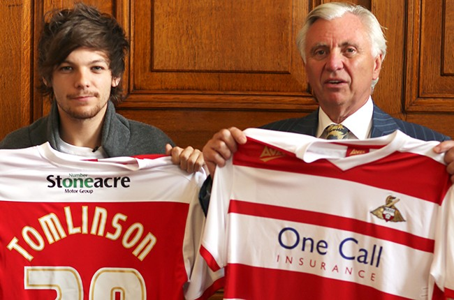 Louis Tomlinson and John Ryan for Doncaster Rovers football club