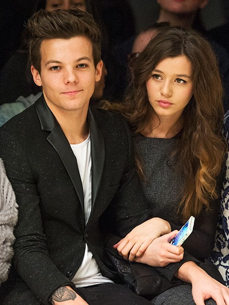Louis Tomlinson of One Direction (L) and Eleanor Calder 2013