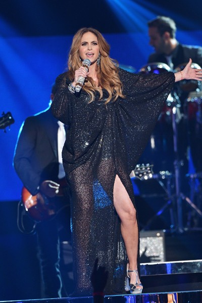 Lucero performs onstage at the 2015 Billboard Latin Music Awards