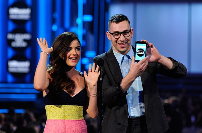 Lucy Hale and Jack Antonoff at the 2014 Billboard Music Awards