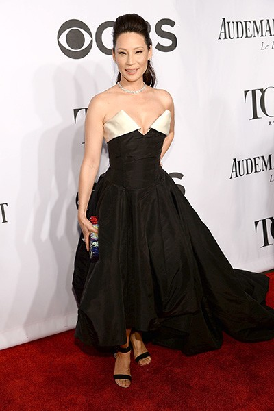 Lucy Liu attends the 68th Annual Tony Awards