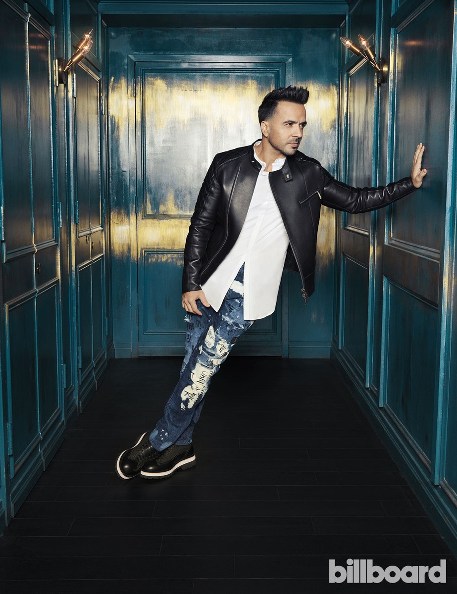 Luis Fonsi photographed on Oct. 18, 2017 at Vandal in New York. Fonsi wears Dsquared2.
