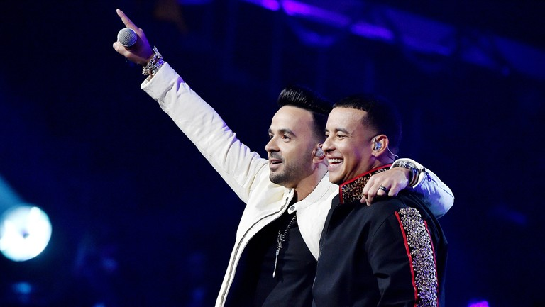 <p>Luis&nbsp&#x3B;Fonsi&nbsp&#x3B;and Daddy Yankee perform onstage during the&nbsp&#x3B;60th&nbsp&#x3B;Annual Grammy Awards at Madison Square Garden on Jan. 28, 2018 in New York City.&nbsp&#x3B;</p>