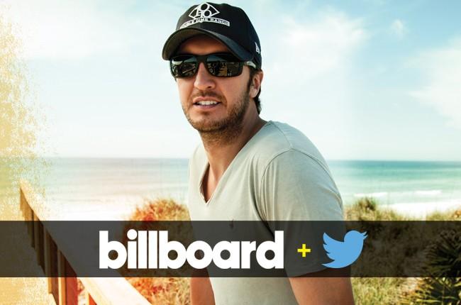 Luke Bryan on the Billboard+Twitter Trending 140 Chart