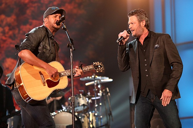 Luke Bryan and Blake Shelton  Academy of Country Music Awards 2016