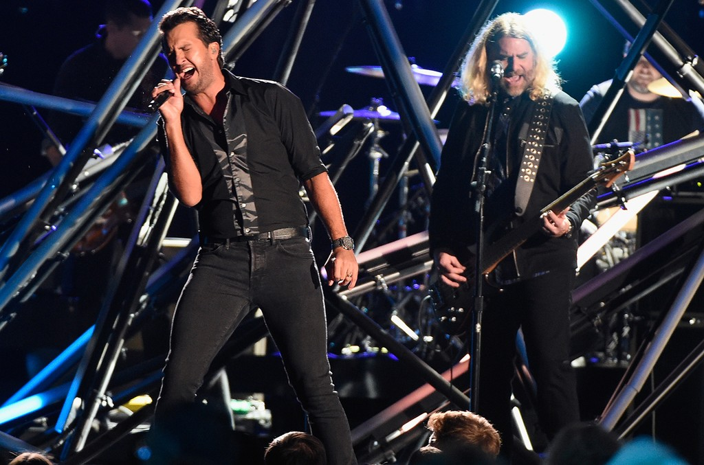 Luke Bryan performs onstage at the 50th annual CMA Awards