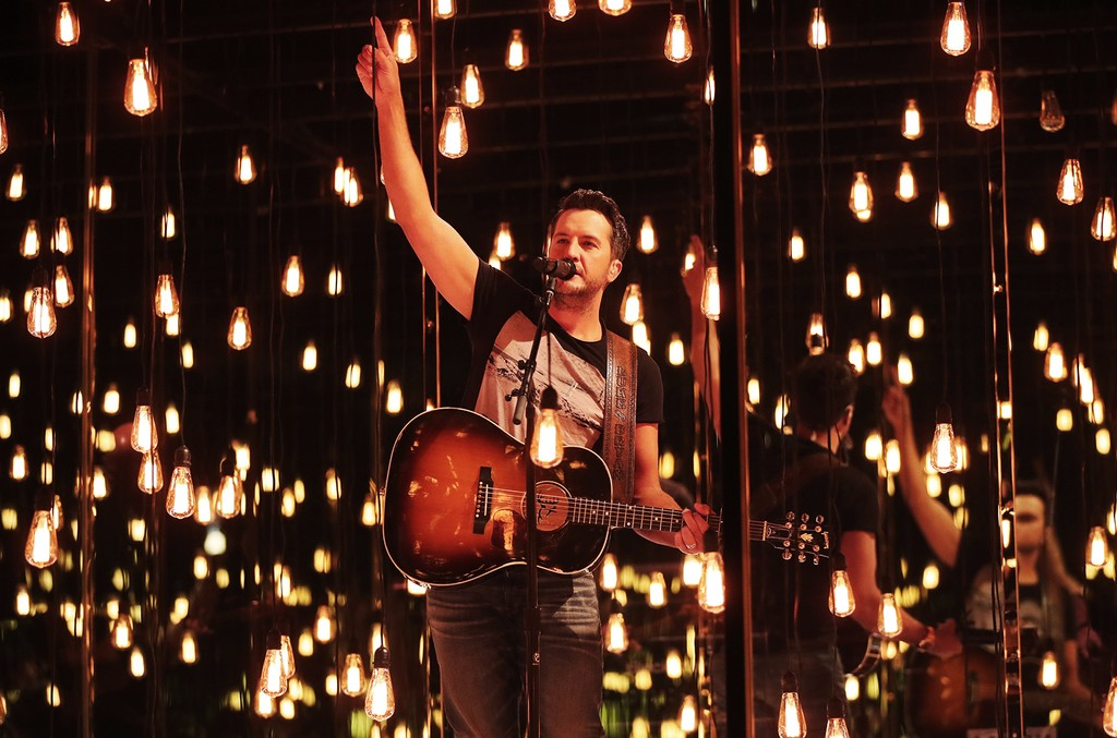Luke Bryan performs onstage during the 52nd Academy Of Country Music Awards at T-Mobile Arena on April 2, 2017 in Las Vegas.