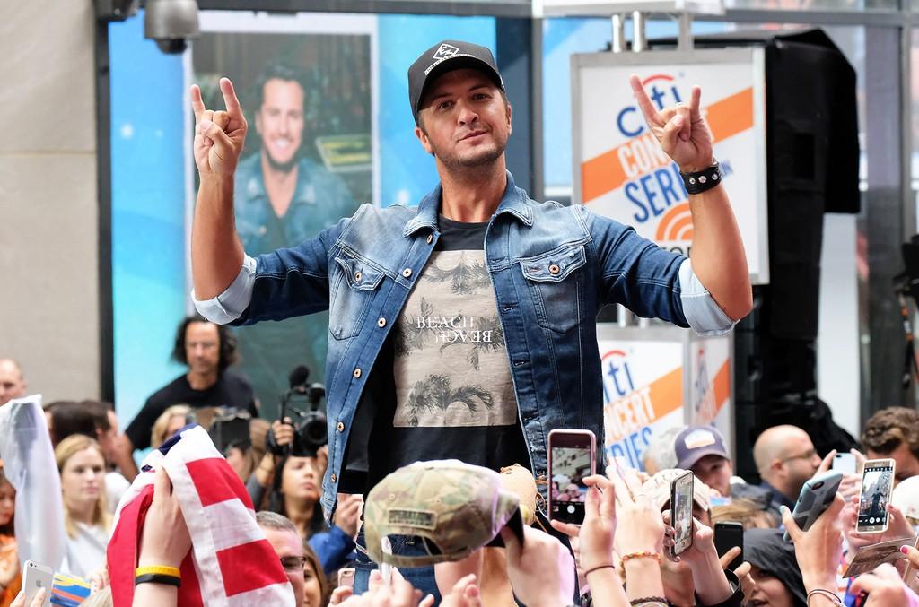 Luke Bryan performs on NBC's Today
