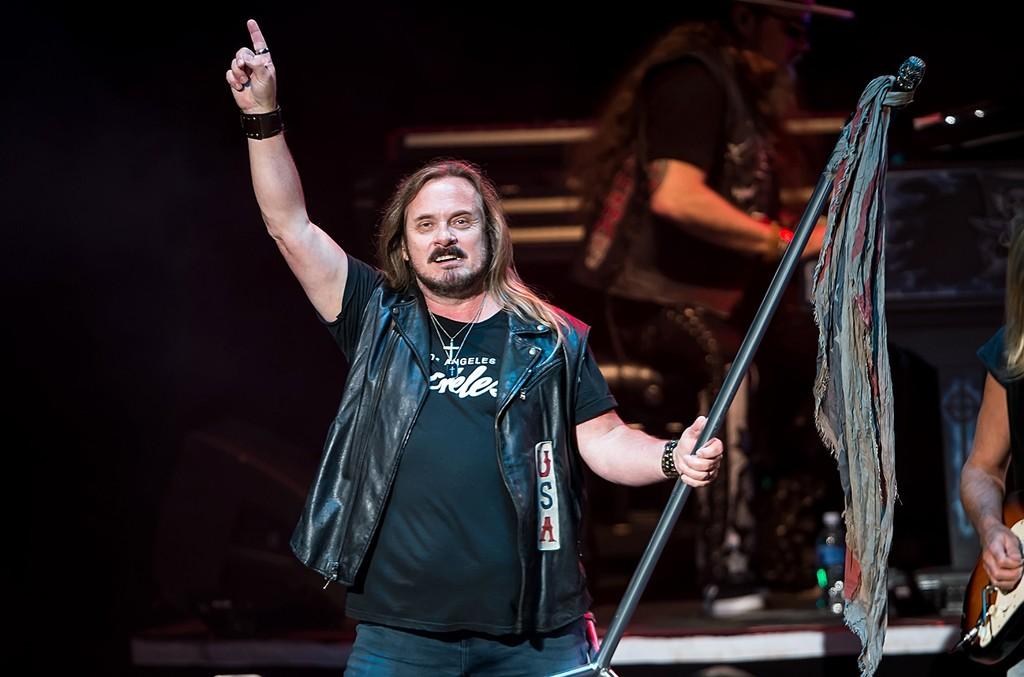 Johnny Van Zant of Lynyrd Skynyrd performs during Lynyrd Skynyrd  & Peter Frampton In Concert at Mann Center For Performing Arts on June 10, 2016 in Philadelphia.