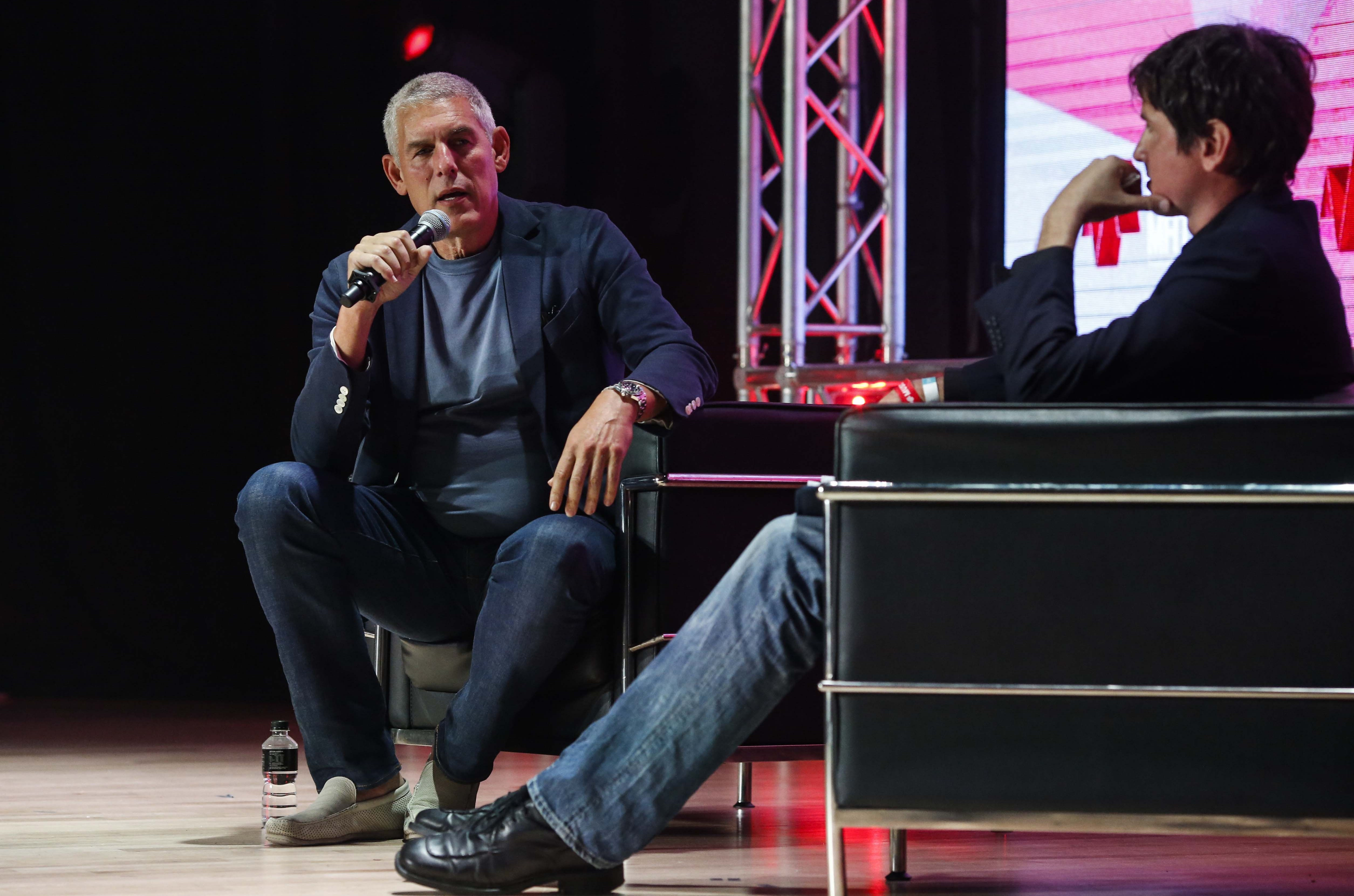 YouTube's Lyor Cohen and Billboard's Lars Brandle chat at Music Matters 2017