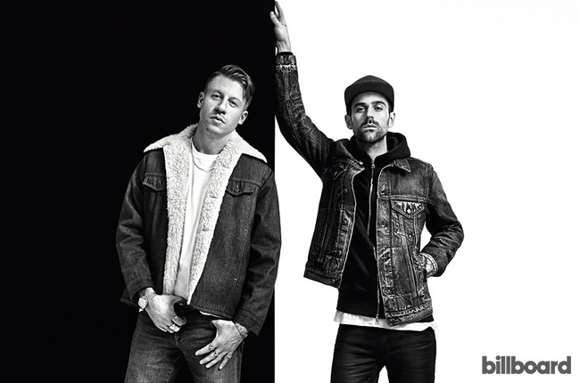 Macklemore & Ryan Lewis photographed at Jack Studio in New York City on Feb. 9, 2016.