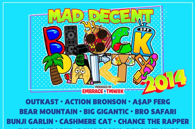 2014 Mad Decent Block Party Poster