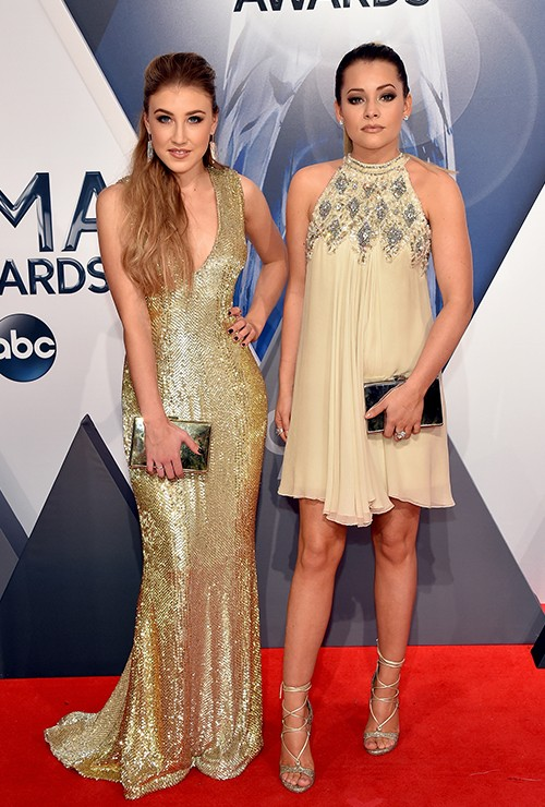 Maddie & Tae attend the 49th annual CMA Awards