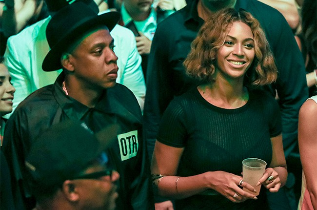 Beyonce and Jay-Z at the 2014 Made In America Festival