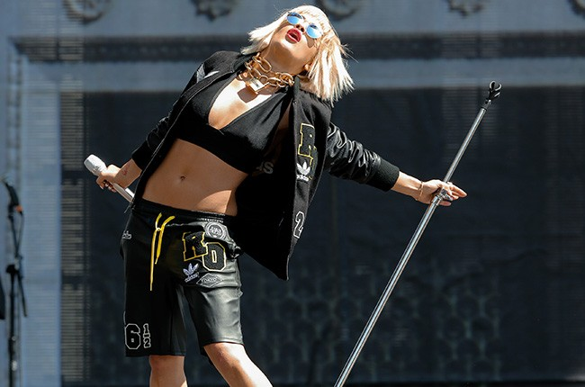 Rita Ora performs at the 2014 Made In America Festival