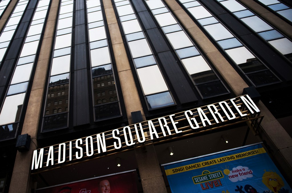 Exterior of Madison Square Garden in New York City.