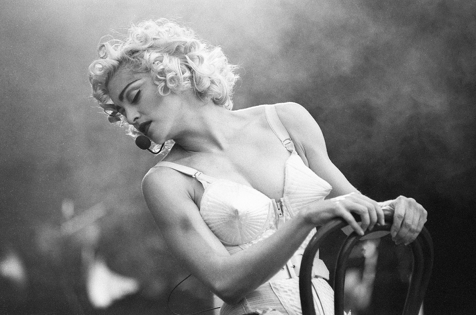 Madonna performs in 1990