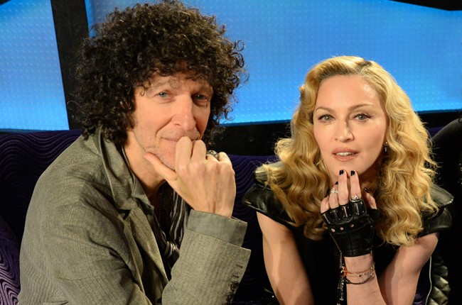 Madonna with Howard Stern after an appearance for his SiriusXM