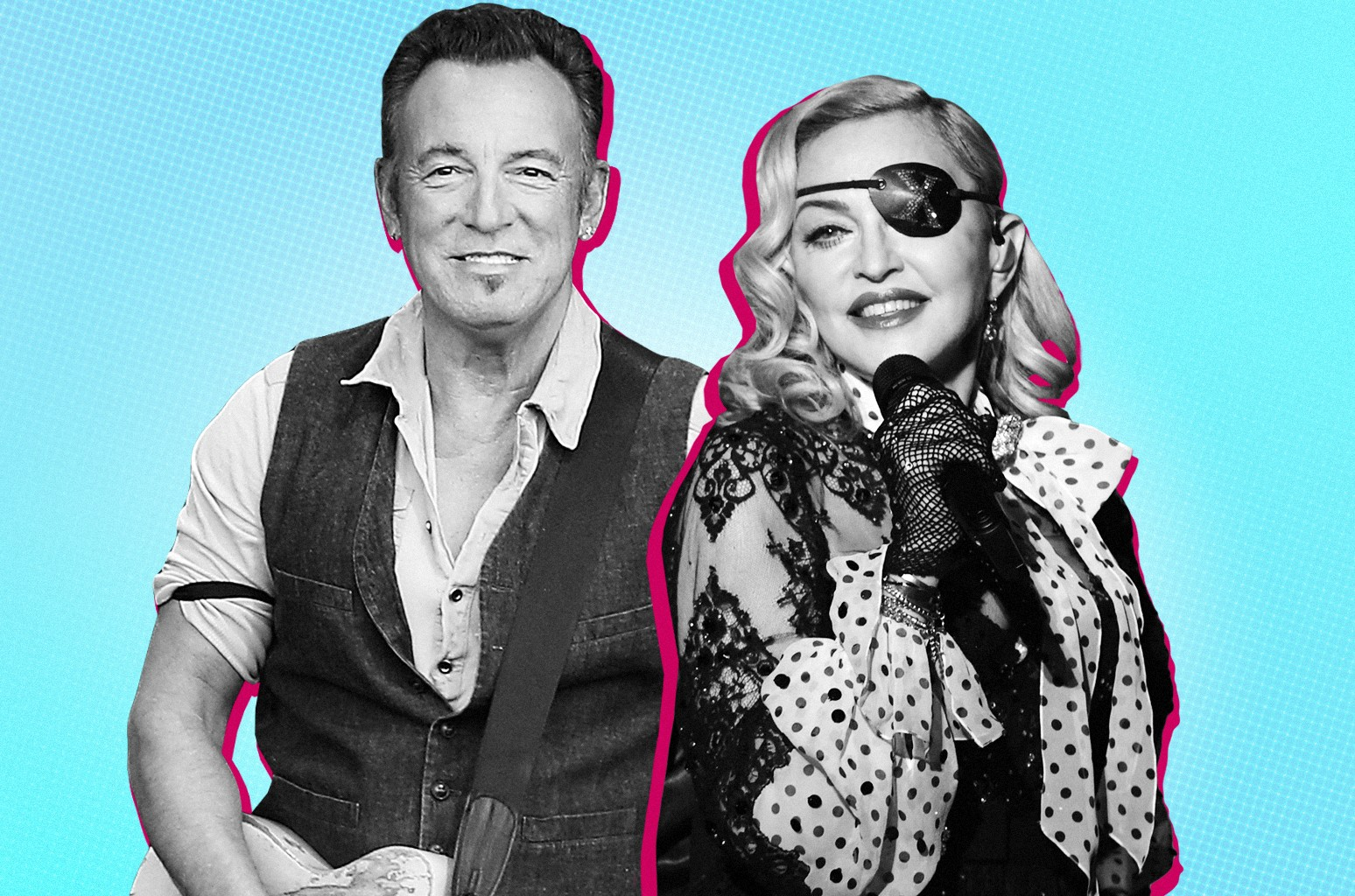 Bruce Springsteen and Madonna