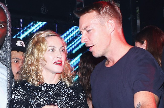 Madonna and Diplo at the Jeremy Scott NYFW After Party