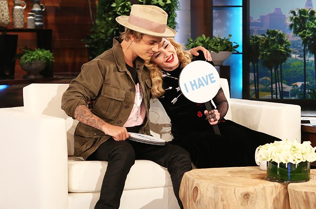 Justin Bieber and Madonna