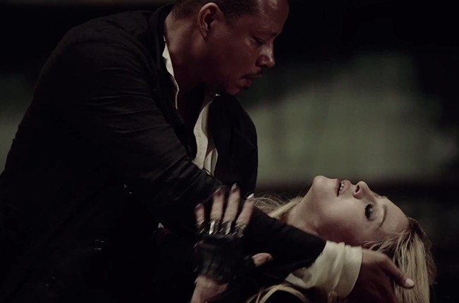 "Madonna dances with Terrence Howard in a still from the music video for Madonna's 2015 ""Ghosttown."""