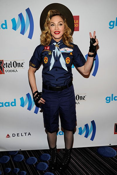 Madonna at the 24th Annual GLAAD Media Awards