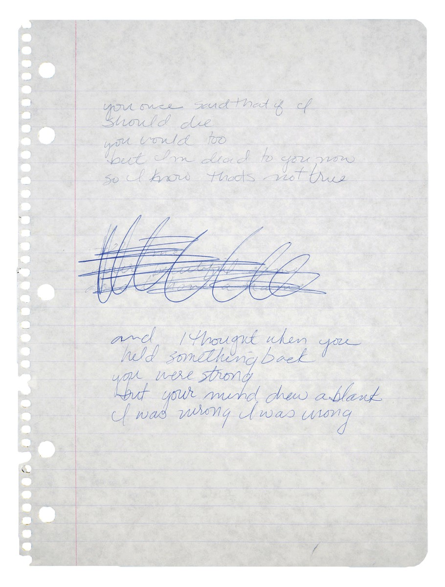 Song lyrics written by Madonna for an unknown song