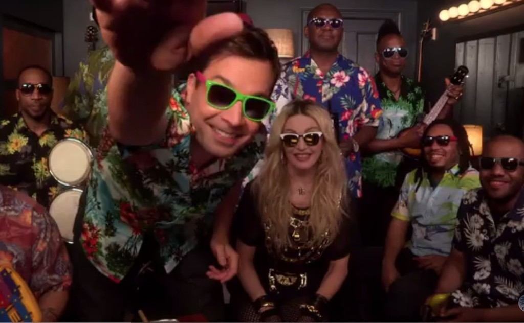 Madonna, Jimmy Fallon and The Roots