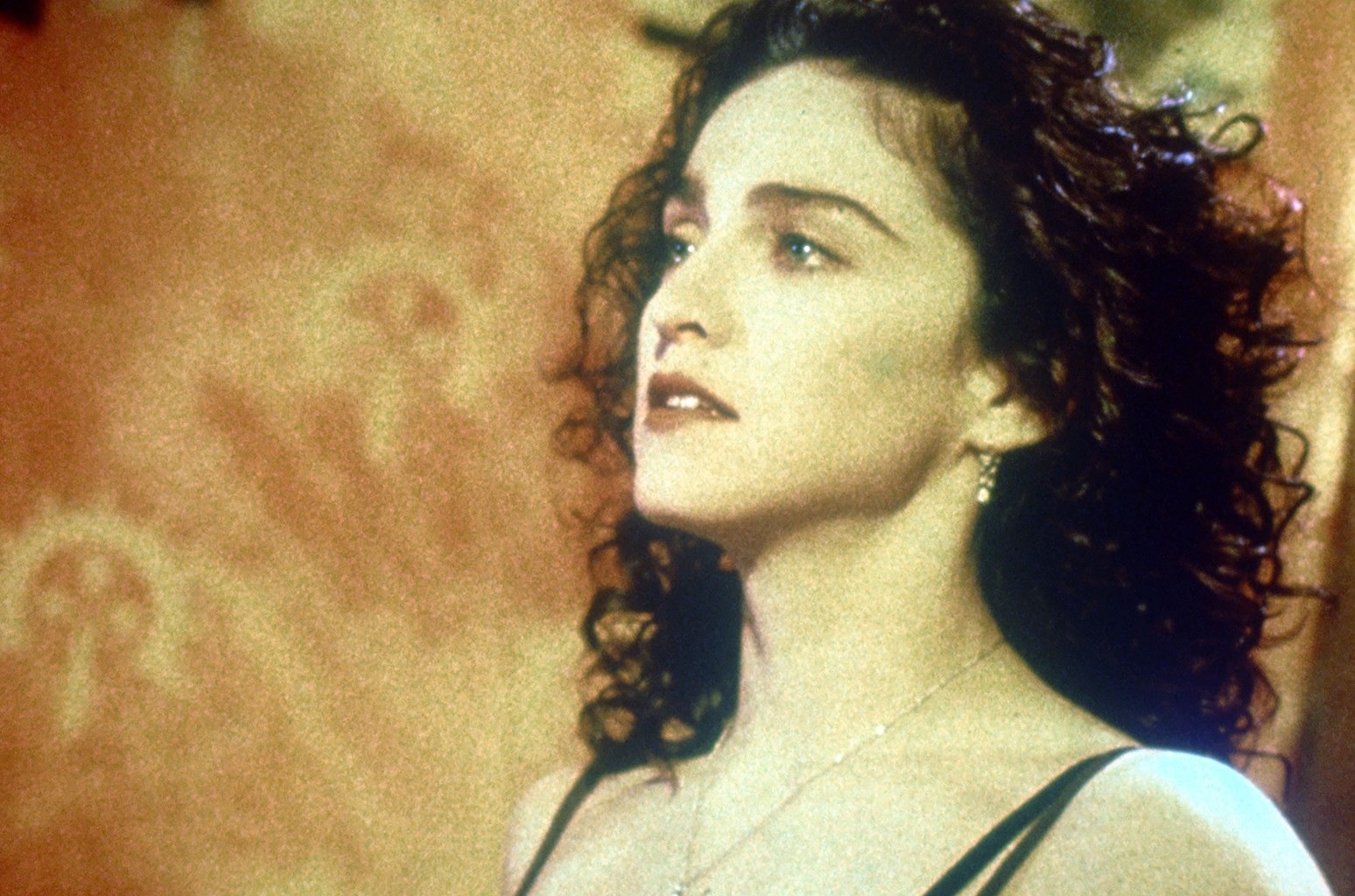 """Madonna in the Video for """" Like a Prayer """" in 1989."""