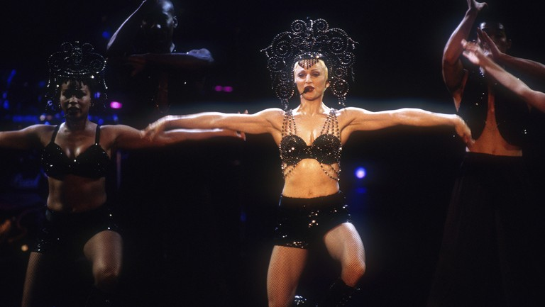 <p>Madonna performs&nbsp&#x3B;at the Sydney Cricket Ground on Nov. 19, 1993 in Sydney, Australia.&nbsp&#x3B;</p>