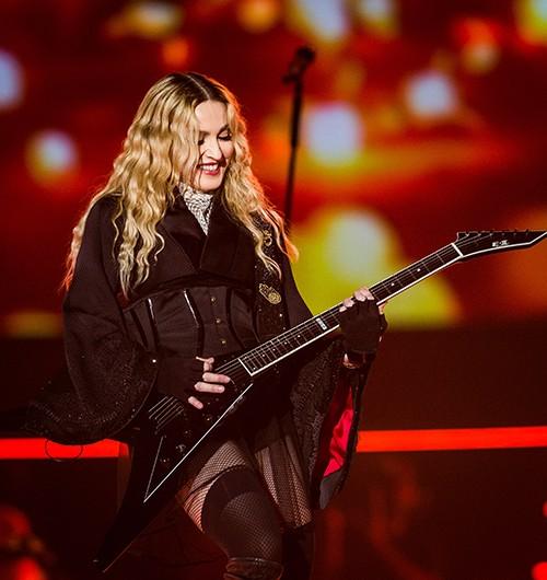 Madonna performs at the MGM Gran