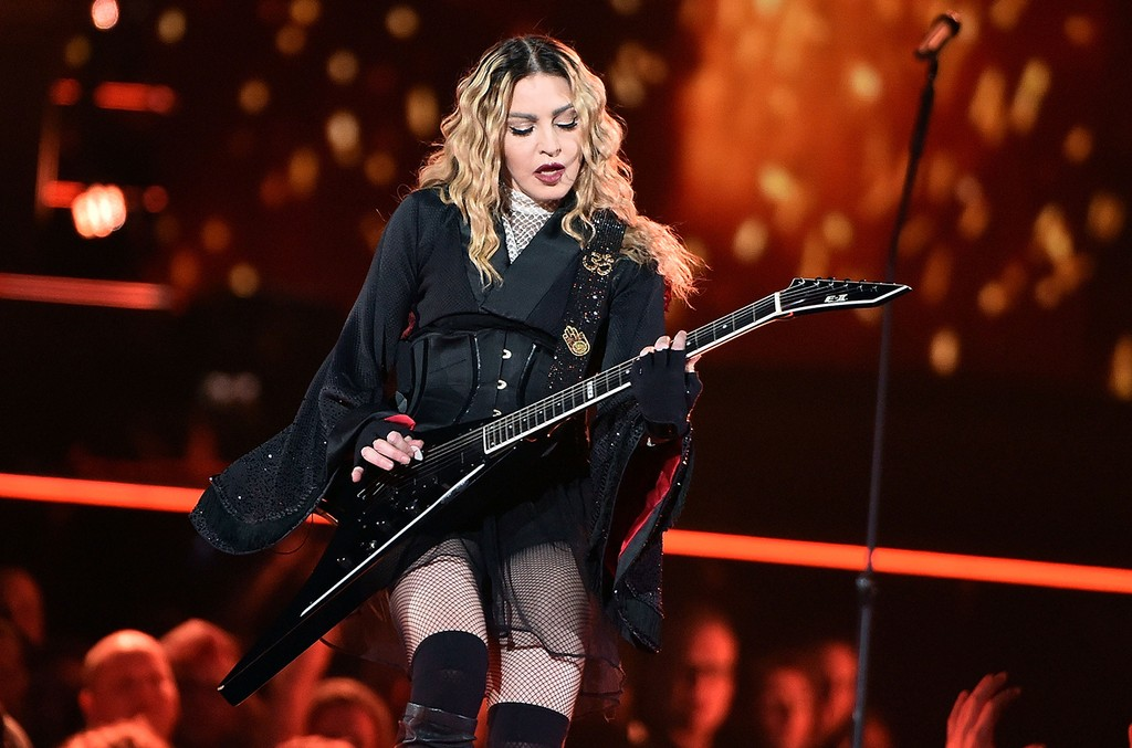 Madonna performs in concert during her Rebel Heart Tour