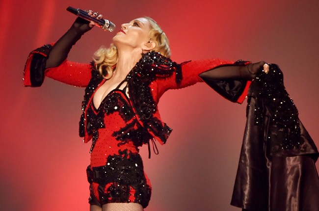 Madonna performs onstage during The 57th Annual GRAMMY Awards 2015