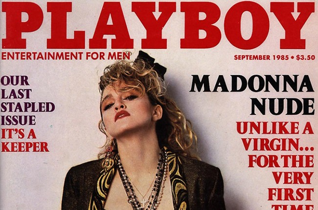 Madonna covers the Sept. 1985 issue of Playboy