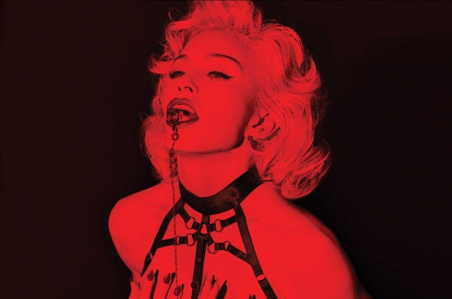 "Album cover for Madonna's 2015 super deluxe ""Rebel Heart."""