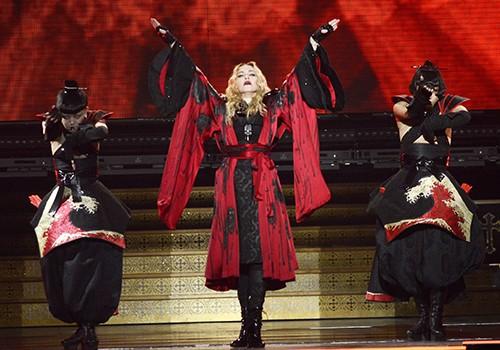 "Madonna performs during her ""Rebel Heart"" tour at SAP Center"